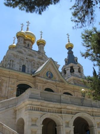 A Russian - Orthodox church in Jerusalem