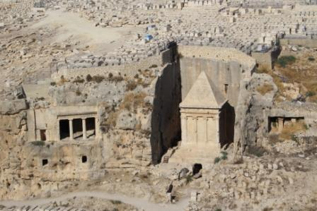 The tomb of Zechariah in Jerusalem